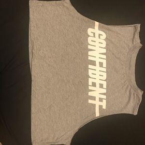 'CONFIDENT' crop top shirt